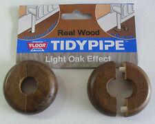 TidyPipe real wood radiator pipe cover, wood laminate floors, Light Oak, pack 2