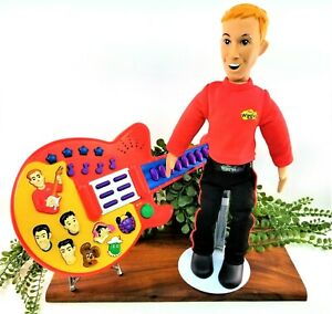 Lot of 2 The Wiggles Speak & Sing Murray Doll RARE & Sing & Dance Red Guitar