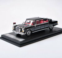 DCM 1/64 Scale Mercedes-Benz 600 PULLMAN Convertible Black Diecast Car Model Toy