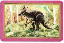 COLES  swap cards VINTAGE blank back lady kangaroo