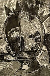 MONTY JONES 1996 ABSTRACT MODERNIST PORTRAIT FIGURE ALL BE KING 1 DAY SERIGRAPH