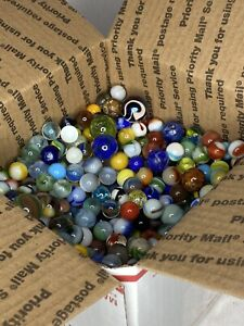 Lot of Old Vintage Colorful Mixed Marbles 10lbs