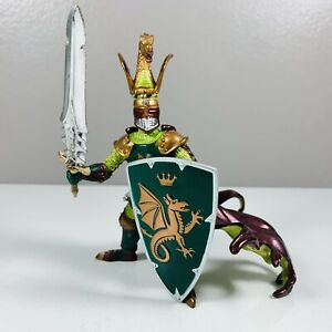 Papo Green Dragon Knight With Sword And Shield Fantasy Medieval Figure 2007