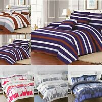 LUXURY PRINTED DUVET QUILT COVER SET 100% POLY COTTON SINGLE DOUBLE KING SIZES