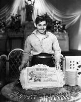 8x10 Print Clark Gable Posing with Birthday Cake from MGM Studios 1933 #55002
