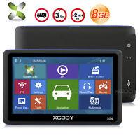 "XGODY 504 5"" Portables Auto Navigation GPS 8GB NAVI SAV POI Free EU Map update"