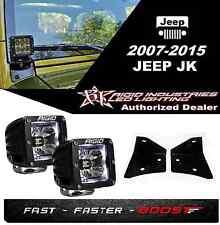 Rigid Radiance Pod White & A-Pillar Mount Kit For 2007-2015 Jeep JK