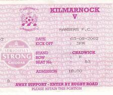 Ticket - Kilmarnock v Rangers 03.08.2002