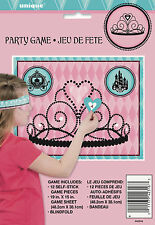 PRINCESS PARTY SUPPLIES GAME STICK THE HEART ON THE TIARA UP TO 12 PLAYERS