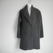 NWT 7 For All Mankind Wool  Cocoon Charcoal Gray Women's Coat  Size 4