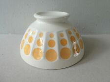 grand bol décor pois jaune, vintage années 50-60, Digoin ?
