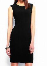 Next Size 18 R Black Subtle Animal Print Panels Bodycon DRESS Party Occasion New