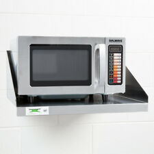 Solwave 1000W Stainless Steel Commercial Microwave with Push Button Controls