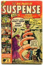 SUSPENSE #8 1951- Walking Ghost- Missing Head- Atlas horror VG