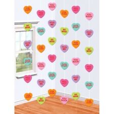 Valentines Day Candy Hearts 6 7 ft Doorway String Decoration Paper