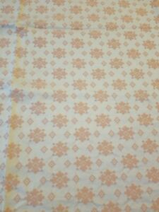 Pink Floral Geometric Upholstery Fabric 65 x 53