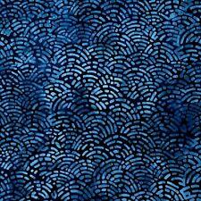 Robert Kaufman Batik Fabric INDIGO AMD-18718-62, By The Half Yard