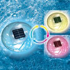 Swimline Swimming Pool Spa Hot Tub & Pond Floating Solar Rainbow Light