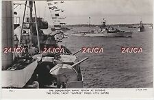 "Royal Navy Real Photo. Fleet Review. Royal Yacht ""Surprise"" HMs ""Superb""  1953"