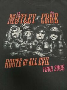 MOTLEY CRUE Route Of All Evil XL tshirt 2006