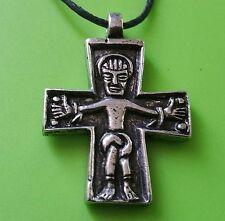Viking Swedish Crucifix Hand Crafted Pewter Pendant Necklace