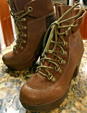 Kork Ease MAYA Militaire Brown Leather Platform Ankle Boots 9 US Booties