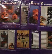Halloween Decorations Lot Door Window Cover Pumpkin Leaf Bags New Free Shipping