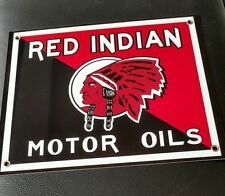 Red Indian Motor Oil Gas gasoline sign