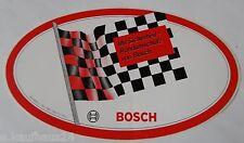 Aufkleber BOSCH Motorsport Zielflagge Werkstatt 80er Jahre Sticker Youngtimer #2