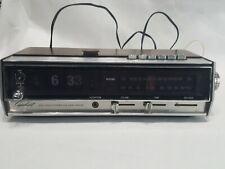 Vintage Capehart Flip Clock Alarm AM-FM Stereo Radio Works Number Snooze Working