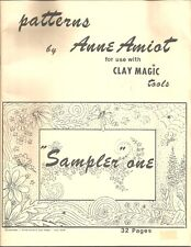 SAMPLER ONE Patterns by Anne Amiot for Use With Clay Magic Tools