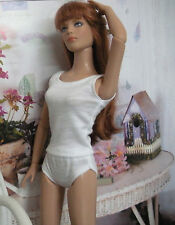 "Fits 16"" Tyler Wentworth Tonner Doll - White Cami & Panties 2 piece Set - D1060"