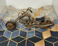 Vintage Metal Motorcycle Sculpture - Scrap Metal