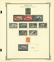 Gibraltar Mostly Mint 1800s to 1980 Stamp Collection