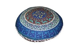 Floor Cushion Cover Yoga Mat Meditation Yoga Mat Pouf Cover Round Cushion Cover
