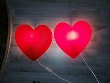 2 x Ikea Heart Light Lamp