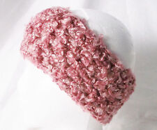 Crochet Headband Earmuff Warm & Cozy Pink Shades-Handmade by Pizazz Creations