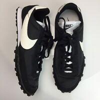 Nike Waffle Racer Black White Running Shoes CN5449 002 OG Mens New