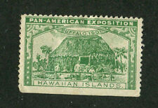 Vintage Poster Stamp PAN AMERICAN EXPOSITION Buffalo 1901 HAWAIIAN ISLANDS grn
