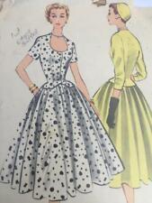 McCalls Sewing Pattern 3110 Misses Ladies Dress  Size 14 Cut Vintage 1955