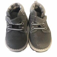 Garanimals Size 4 Navy Gray Ankle Boots Laces Adjustable EUC