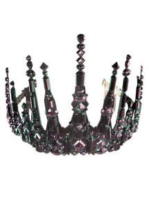 Dark Iridescent Gothic Mermaid Tiara Crown Fancy Dress Headpiece Accessory