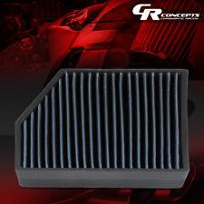 BLUE HI-FLOW PANEL CABIN AIR FILTER FOR 05-18 VW JETTA/GTI/PASSAT AUDI A3/Q3/TT