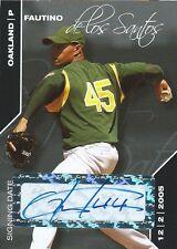 (HCW) 2008 Just Minors Autographs Black FAUTINO DE LOS SANTOS 3/25 Auto New York