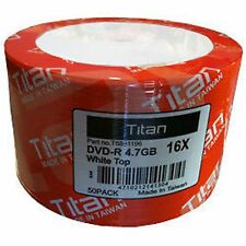 50PCS Titan 16X White Top DVD-R DVDR Blank Disc 4.7GB