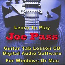 JOE PASS Guitar Tab Lesson CD Software  - 31 Songs