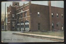 Postcard ALLIANCE Ohio/OH  Fire Department Station House view 1907