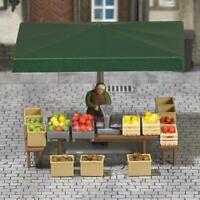 Busch Stall with Fruit and Vegetables 7706 HO& OO Scale