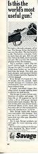 1966 Print Ad of Savage Model 24 Rifle & Shotgun