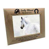 Sadly Missed Horse Remembrance Memorial Wooden Photo Frame FW80